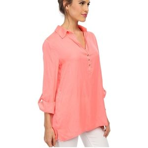 Lilly Pulitzer Everglades Tunic Pucker Pink L